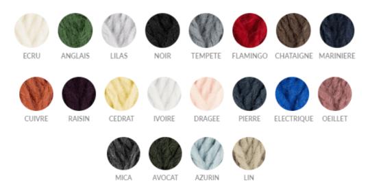 choix couleur qualité du fil alaska