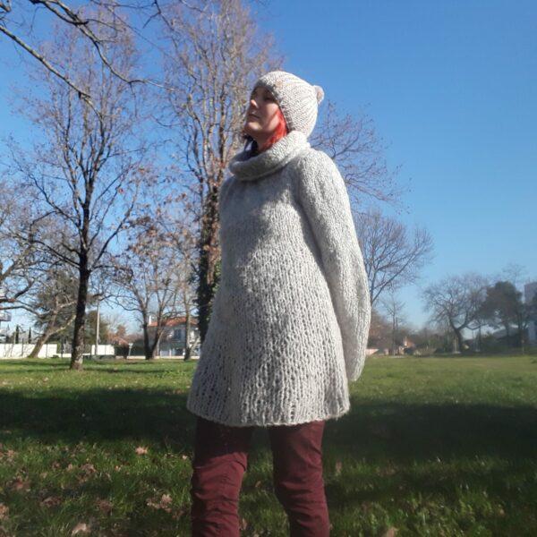bonnet-modele-cote anglaise-fait -main-couleur-gris