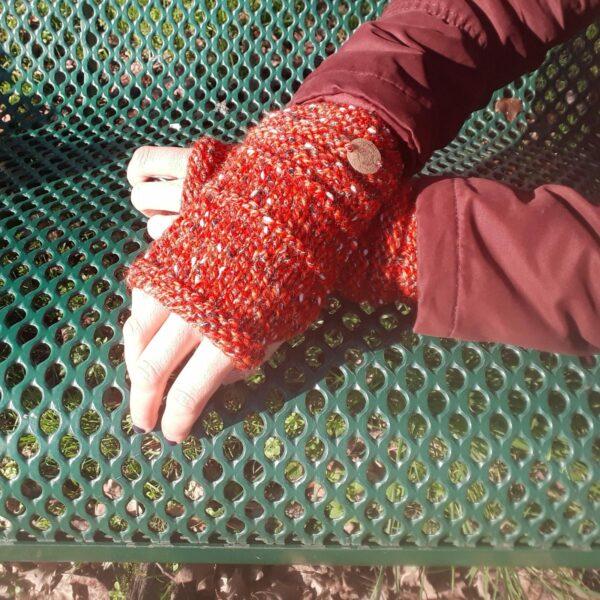 mitaine-fait-main-point-spécial-couleur-rouge