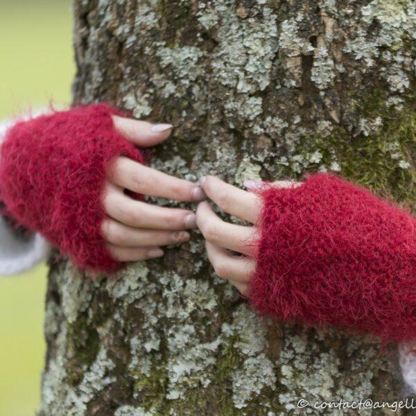 mitaine-fait-main-point-mousse-couleur-rouge