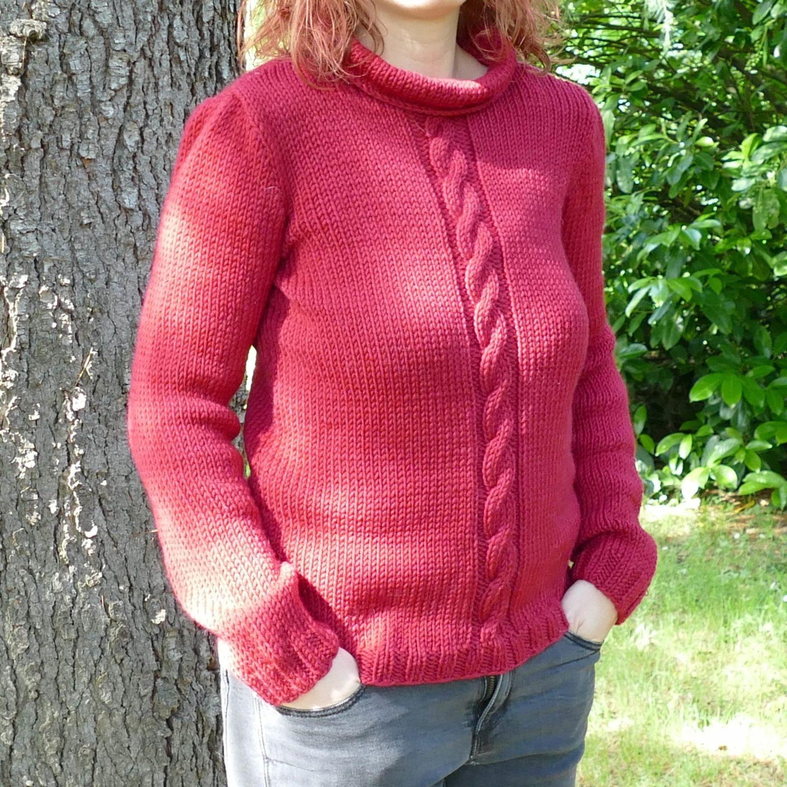 Pull-fait-main-modele-Cu-couleur-rouge-14