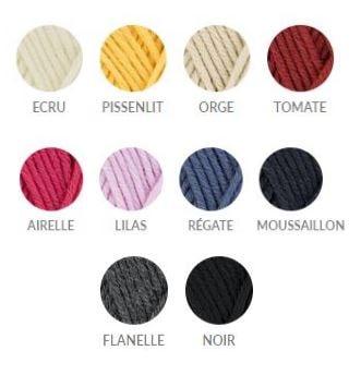 choix couleur qualité du fil merinos7